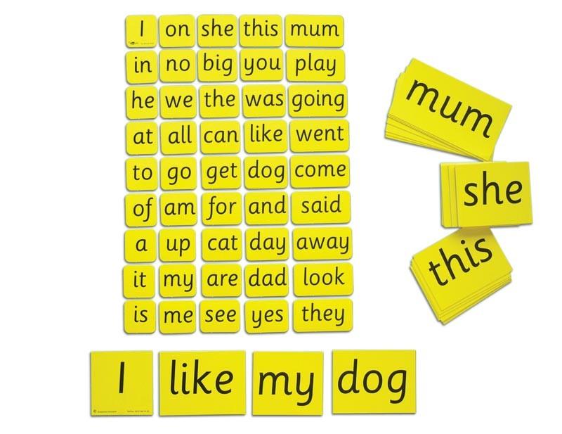 TEACHER'S FIRST WORDS, CARD SET (45 CARDS)