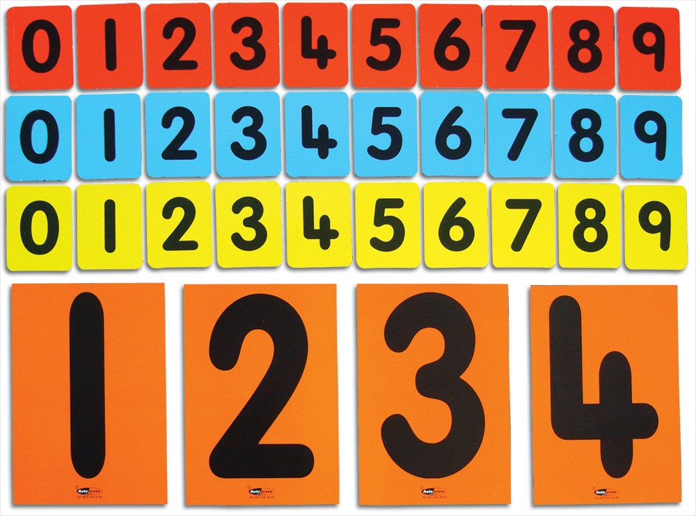 CHILD'S 0-9 CARDS (3 SETS)
