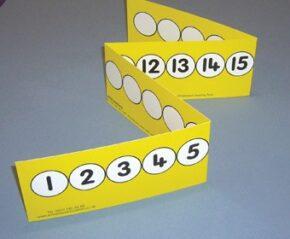 TEACHER'S 1-20 NUMBER TRACK (FOLDING/YELLOW)