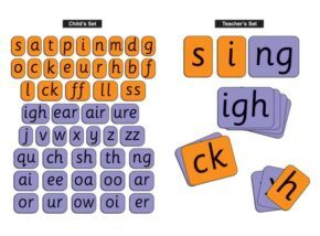 TEACHER'S SYNTHETIC PHONIC CARDS SET - PHASE 2 & 3