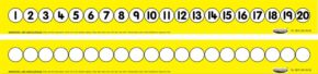 CHILD'S 1-20 NUMBER TRACK (FOLDING/YELLOW)
