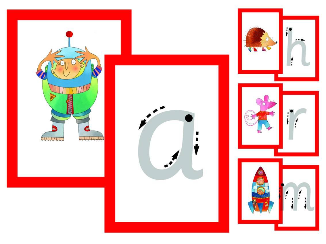 TEACHER'S LETTERS & PICTURES CARDS - INFANT PRINT