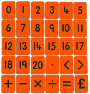 CHILD'S 0-20/FUNCTIONS CARD SET - ORANGE