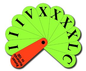 ROMAN NUMERALS TO 100 FAN