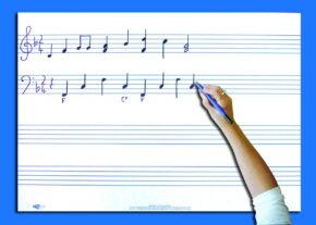 WRITE 'N' WIPE POSTER/PEN - MUSIC