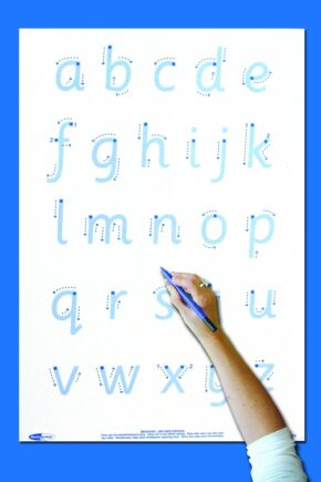 WRITE 'N' WIPE POSTER/PEN - LETTER FORMATION