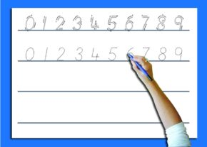 WRITE 'N' WIPE POSTER/PEN - NUMBER FORMATION