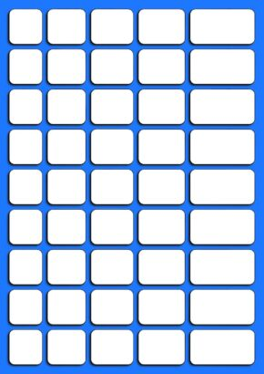 BLANK WRITE-ON, WIPE-OFF CARDS (45 PER SHEET)
