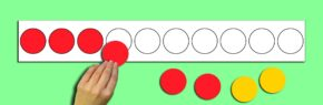 MAGNETIC COUNTERS STRIP & 10 COUNTERS