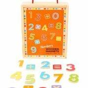 MAGNETIC WOODEN NUMBER TILES
