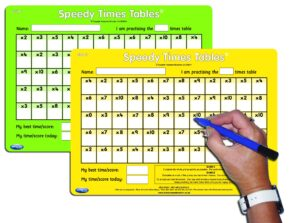 SPEEDY TIMES TABLES (PAIR)