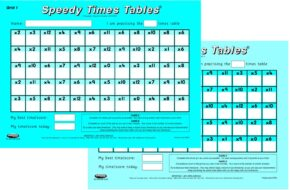 SPEEDY 12x12 TIMES TABLES (PAIR)