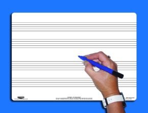 A4 MUSIC WHITEBOARD/PEN/BAG - 4 STAVE