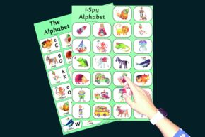CHILD'S ALPHABET / I-SPY CHART