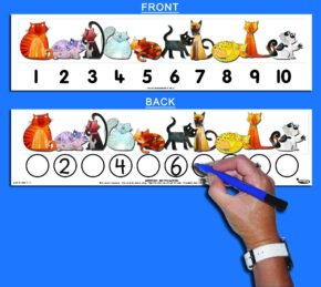 CHILD'S 1-10 CAT NUMBER TRACK