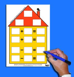 NUMBER FACTS HOUSE - ADDITION AND SUBTRACTION