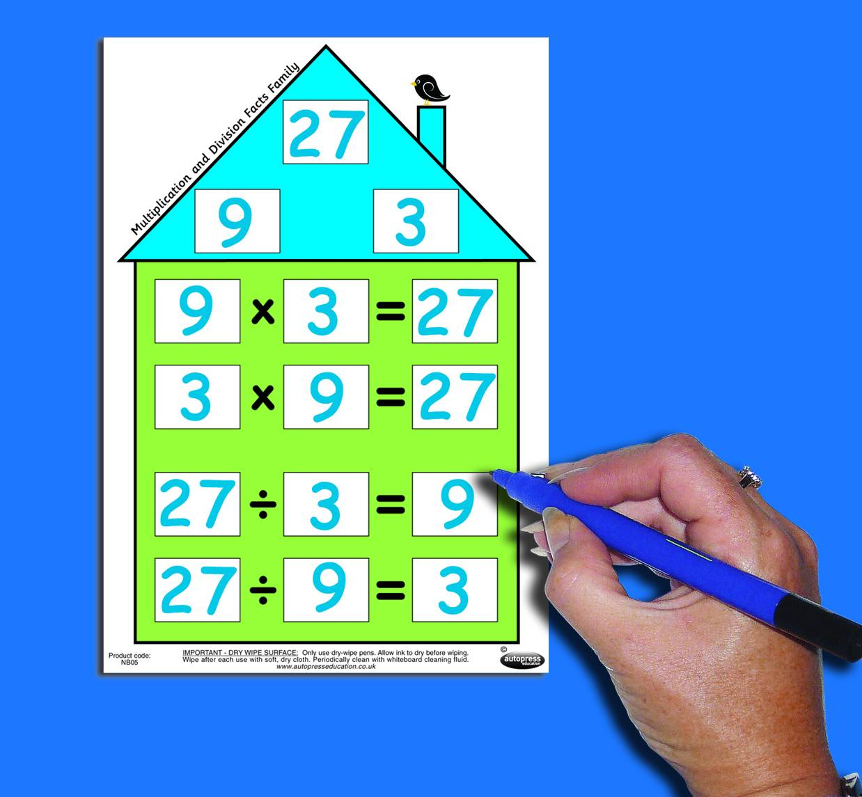 NUMBER FACTS HOUSE - MULTIPLICATION & DIVISION (SMALL)