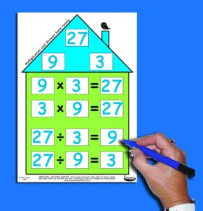 NUMBER FACTS HOUSE - MULTIPLICATION & DIVISION (MEDIUM)