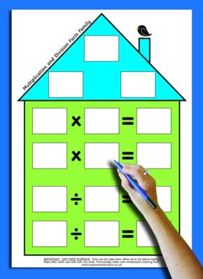 NUMBER FACTS HOUSE - MULTIPLICATION & DIVISION (TEACHER'S)