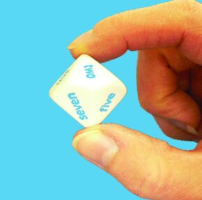 TEN SIDED SPOTTED DICE (WORDS)