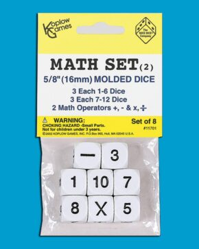 PACK OF 8 MATHS DICE