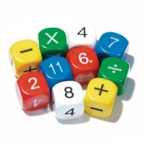 PACK OF 9 ARITHMETIC DICE