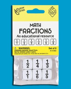PACK OF 6 FRACTIONS DICE