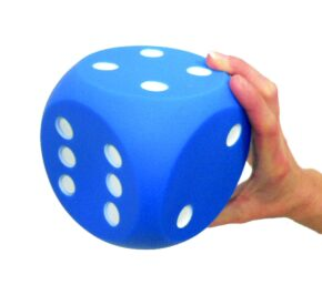 GIANT DOT DICE 1 to 6 - BLUE