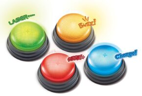 LIGHTS & SOUNDS ANSWERS BUZZERS - SET OF 4